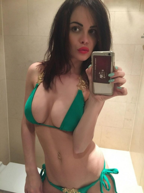 Sexy bikini selfie from bath