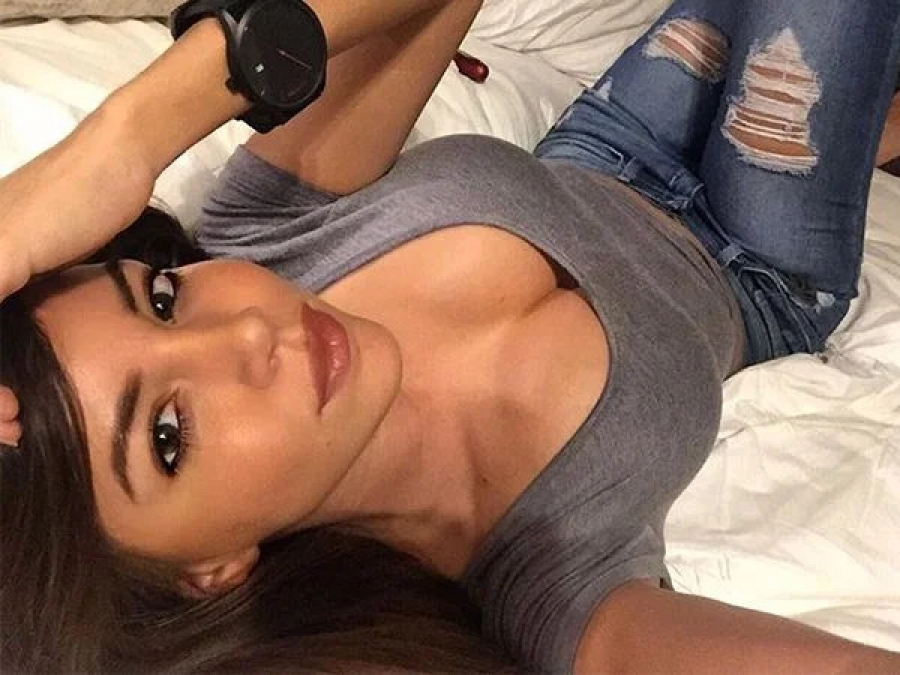 Teasing hot selfie from bed