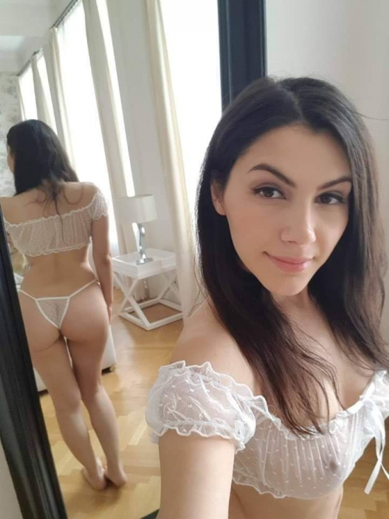 Hot ass in black lingerie sexy selfie