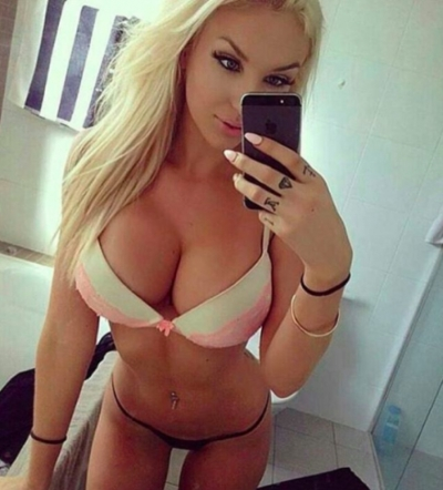 sexy blonde with big…