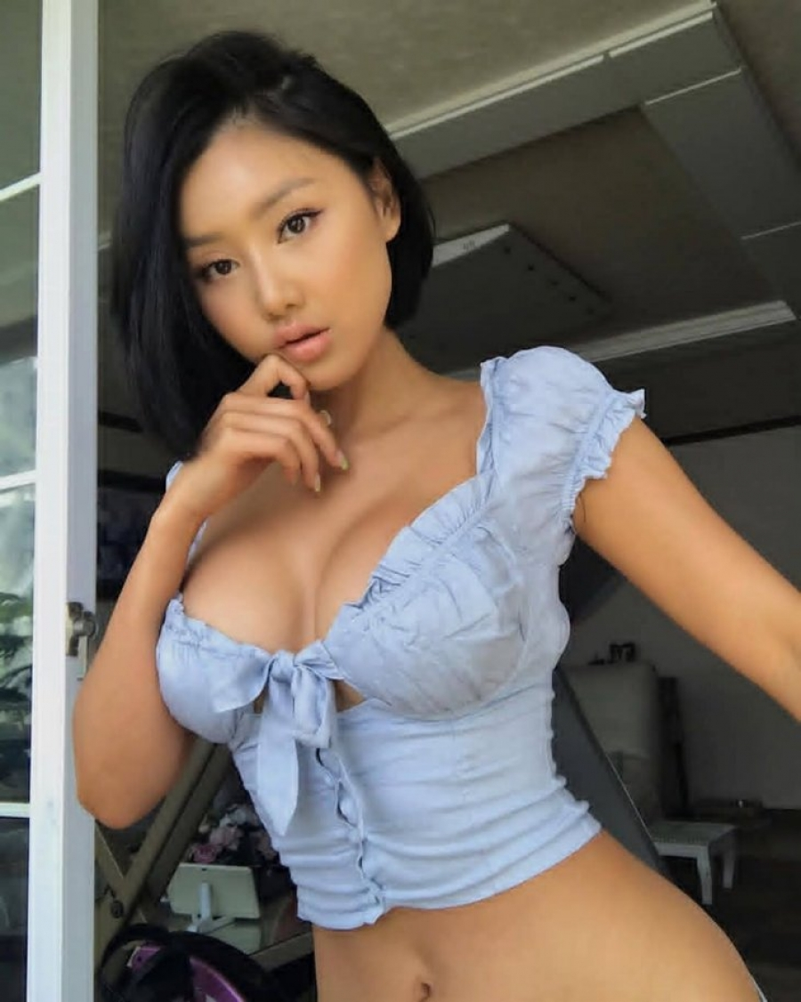 Busty cute asian girl