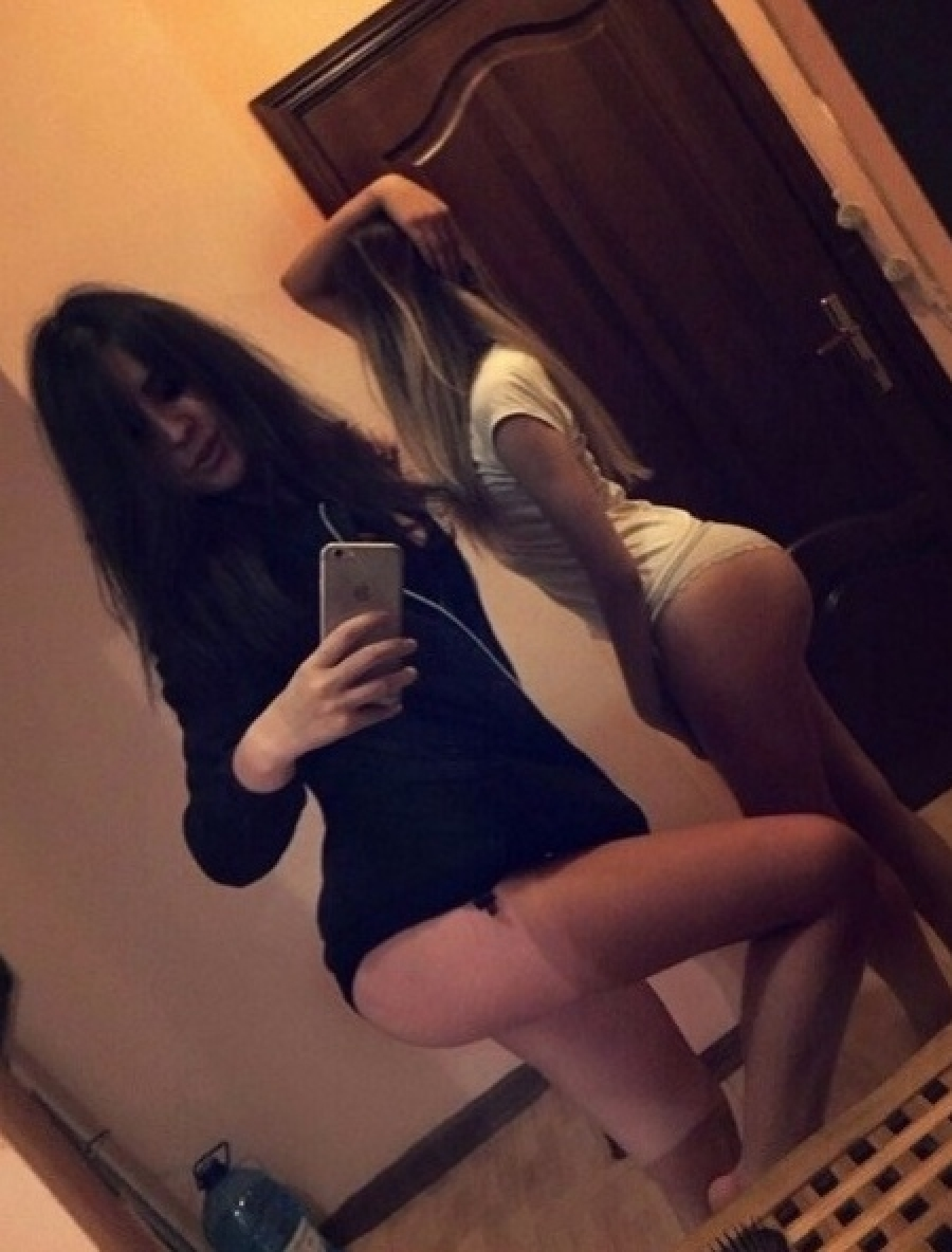 Sexy girls posing for selfie