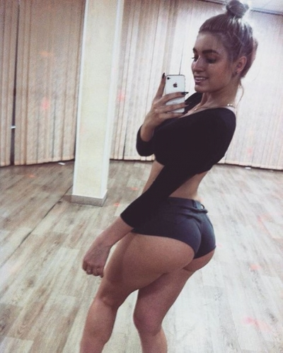 Beautiful Girl in Public Sexy Selfie