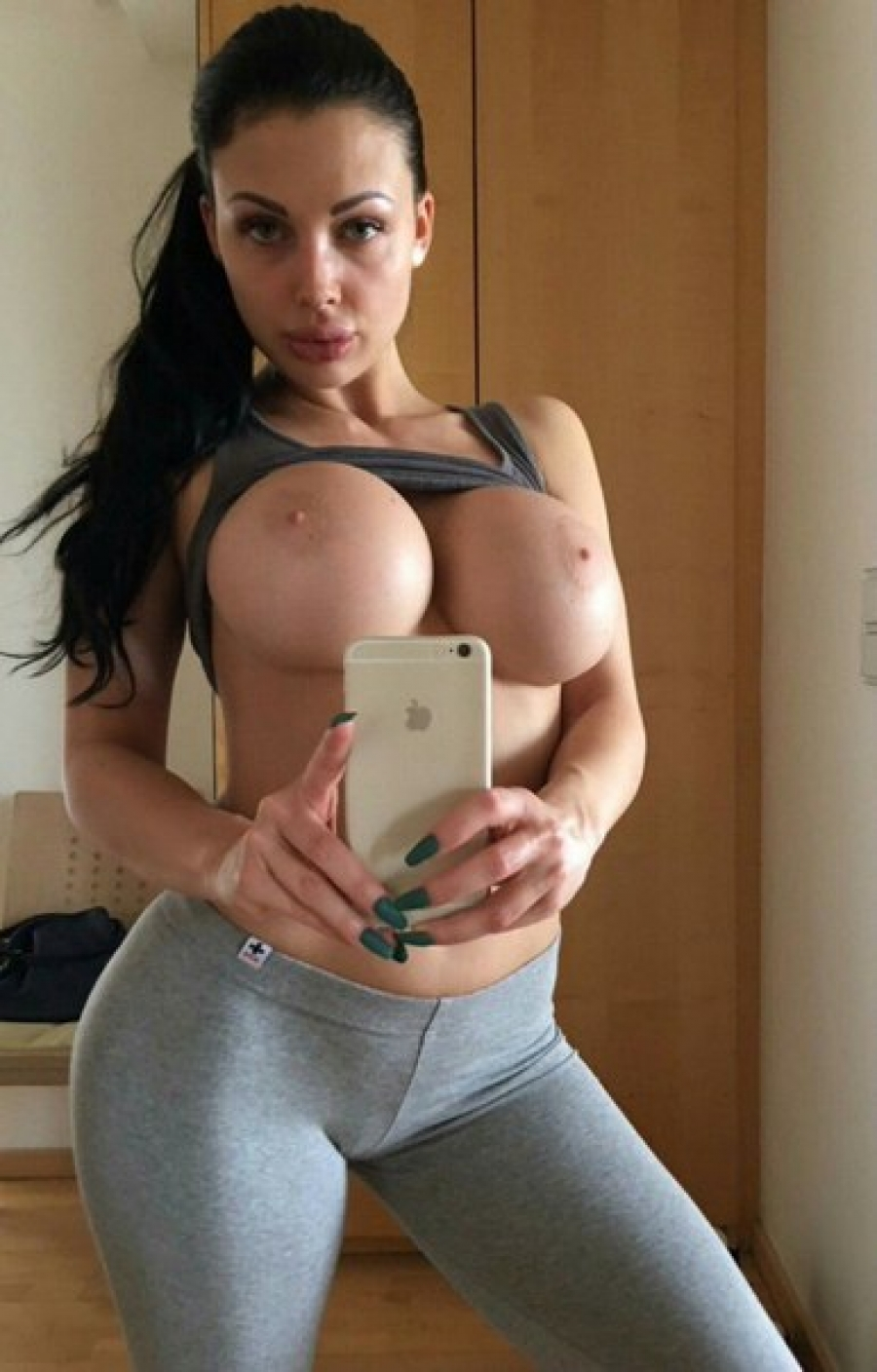 Very big boobs after workout