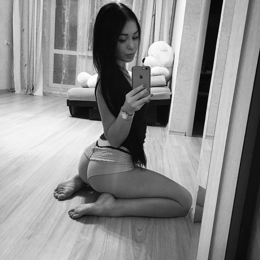Asian with the hot ass in the shorts