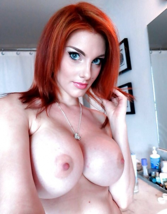 Beautiful redhair with very big boobs
